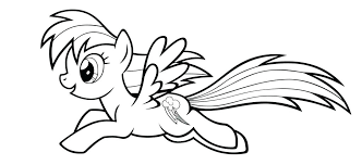 Mlp Coloring Pages Rainbow Dash Of For