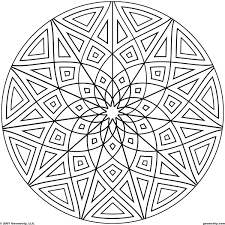 Hard Mandala Coloring Pages Printable Easy For Adults Pictures