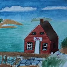 Decorative Lobster Trap Uk by Maine Art Print Lobster Shack Lake Cottage Watercolor