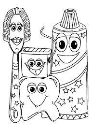 Dental Coloring Book For Kids