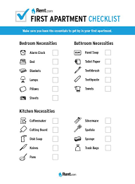 First Apartment Checklist Click To Download The Printable