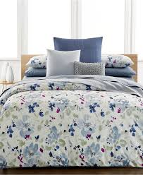 Macys Bedding Collections by Calvin Klein Watercolor Peonies Duvet Covers Duvet Covers Bed