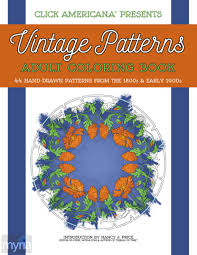 Vintage Patterns Adult Coloring Book Nature Inspired Designs From The Victorian Edwardian Eras
