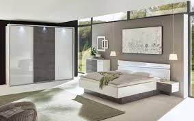 schlafzimmer 4002 in weiß hochglanz absetzung in betonoxyd