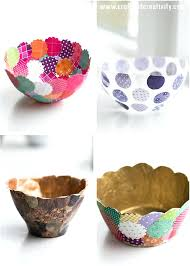 Easy Crafts To Do At Home Cool Ideas For Fun And Paper Bowls Make Cheap Decor