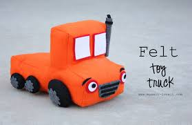 Felt Toy Truck - Little Boy Gift Idea | Make It And Love It Wooden Race Car Transporter With Two Race Cars Ikonic Toys Whosale Monster Truck With Remote Control For Children Pump Action Garbage Air Series Brands Products Amazoncom Green Dump In Yellow And Red Bpa Free Push And Go Cement Mixer Toy Lights Sound Friction Tonka 70cm 4x4 Off Road Hauler Dirt Bikes Alex Jr Busy Fire Alexbrandscom Funrise Toughest Mighty For Unboxing Playing Announcing Kelderman Suspension Built Trex Tonka Original Huina Toys No1520 24g 6ch Mini Rc Bulldozer Eeering