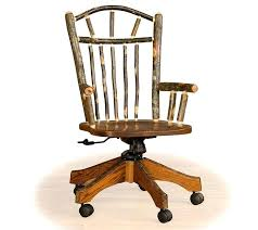 Rustic Office Furniture Chairs This Superb Wheeled Hickory And Cherry Chair Is Handcrafted To