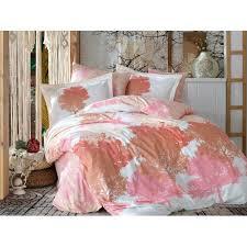 bettwäsche hofmeister modernmoments größe 135 x 190 cm farbe orange rosa weiß
