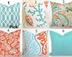 coral outdoor pillows coral outdoor pillow covers orange aqua