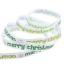 Christmas Tree Watering Device Homemade by 5 Yard 10mm Printed Merry Christmas Tree Grosgrain Ribbon Diy