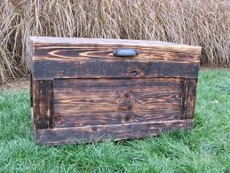 Making A Large Toy Box by Handmade Wood Chest Made From Reclaimed Wood Pallets Hope Chest