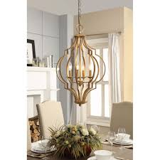 Overstock Lighting Design Ideas Made From Brass Material For Modern Dining Room Decoration With Glass Window