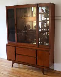 Mid Century Modern China Cabinet Hutch 2