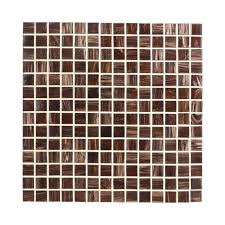 Jeffrey Court Sasparilla 12 in x 12 in x 4 mm Glass Mosaic Wall