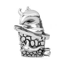 Pandora Halloween Charms by Bella Fascini Witch Hat House Halloween Silver Charm Bead Fits Pandora