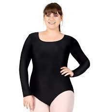 plus size long sleeve dance leotard class basics discountdance com