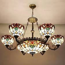 Style Ceiling Lights Beautiful Scintillating Stained Glass Light Fixtures Dining Room Gallery Tiffany Lamps