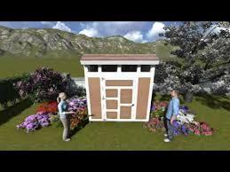 6 x 8 saltbox shed plan youtube