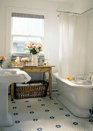 bathrooms with vintage style bathroom tile and floors