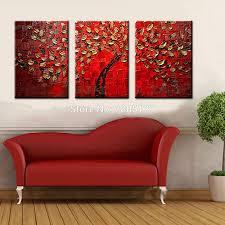 handgemalte spachtel ölgemälde kunst 3 stück moderne abstrakte baum leinwand wand bilder sets wohnzimmer dekoration