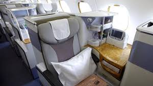 Emirates A380 business class flight fort you can grow