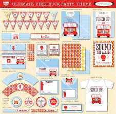 4 Free Printable Fire Truck Birthday Invitations, Fire Truck Party ...