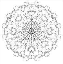 Love Mandala Coloring Page