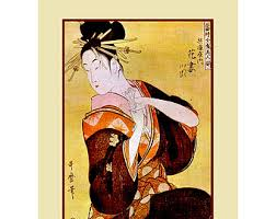 Ancient Japanese Art Painting Reproduction Print Kitagawa Utamaro Fine