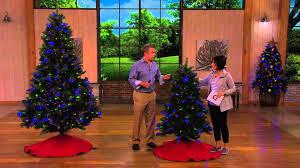 Qvc Pre Lit Christmas Trees by Santa U0027s Best 7 5 U0027 Colorado Spruce Tree W Ez Power U0026 7 Light
