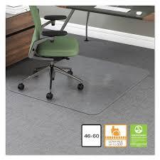 Desk Chair Mat Walmart by Office Impressions Chair Mat 60 X 46 No Lip Clear Walmart Com