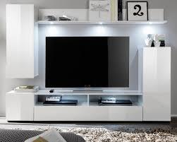 wohnzimmer wohnwand dos weiß hochglanz 208 x 165 cm 4 teilig