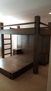Full Xl Platform Bed by Custom Full Xl Loft Bed Over Queen Platform Bed Features Paneled