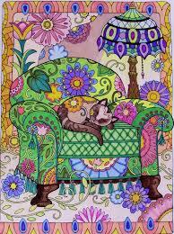 Creative Haven Cats Coloring Book Books Marjorie Sarnat