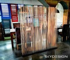 bambus raumteiler wohnzimmer skydesign news