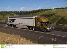 100 Crst Trucks CRST Expedited Gold Freightliner Cascadia Editorial Image Image