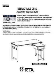 Techni Mobili Desk W Retractable Table by Techni Mobili Retractable Computer Desk Multiple Colors Walmart Com