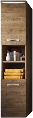 badplaats bv badezimmer schrank paso 160 cm lefkas braun regal schrank hochschrank schrank möbel