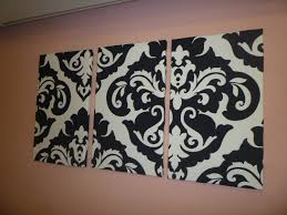 Black White Damask Fabric Wall Art Funky Retro Wickedwalls