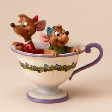 Jim Shore Halloween Uk by Jim Shore Disney Traditions Cinderella Jaq And Gus Tea For Two