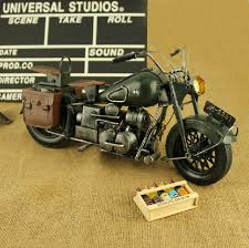 Hand Made Tin Model Retro Classic Harley Davidson Craft Desktop Display Quality Art Work Home