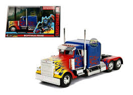 100 Optimus Prime Truck Model Transformers Hollywood Rides 124 Scale Diecast