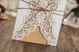 WISHMADE Rustic Wedding Invitation Card Design Free Envelopes Seals Inserts Greeting PK14113
