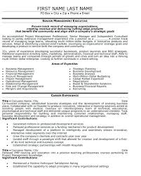 Executive Resumes Examples Senior Management Resume Templates In Great
