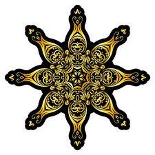 wandtattoo wohnzimmer mandala schwarz gold wandsticker mandala wohnzimmer deko