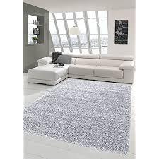 carpetia shaggy teppich hochflor langflor bettvorleger wohnzimmer teppich läufer uni hellgrau grau größe 240 x 340 cm