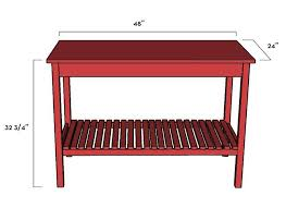 ana white simple kitchen island diy projects