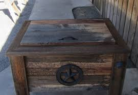 rustic outdoor end tables and ice box madebydennis