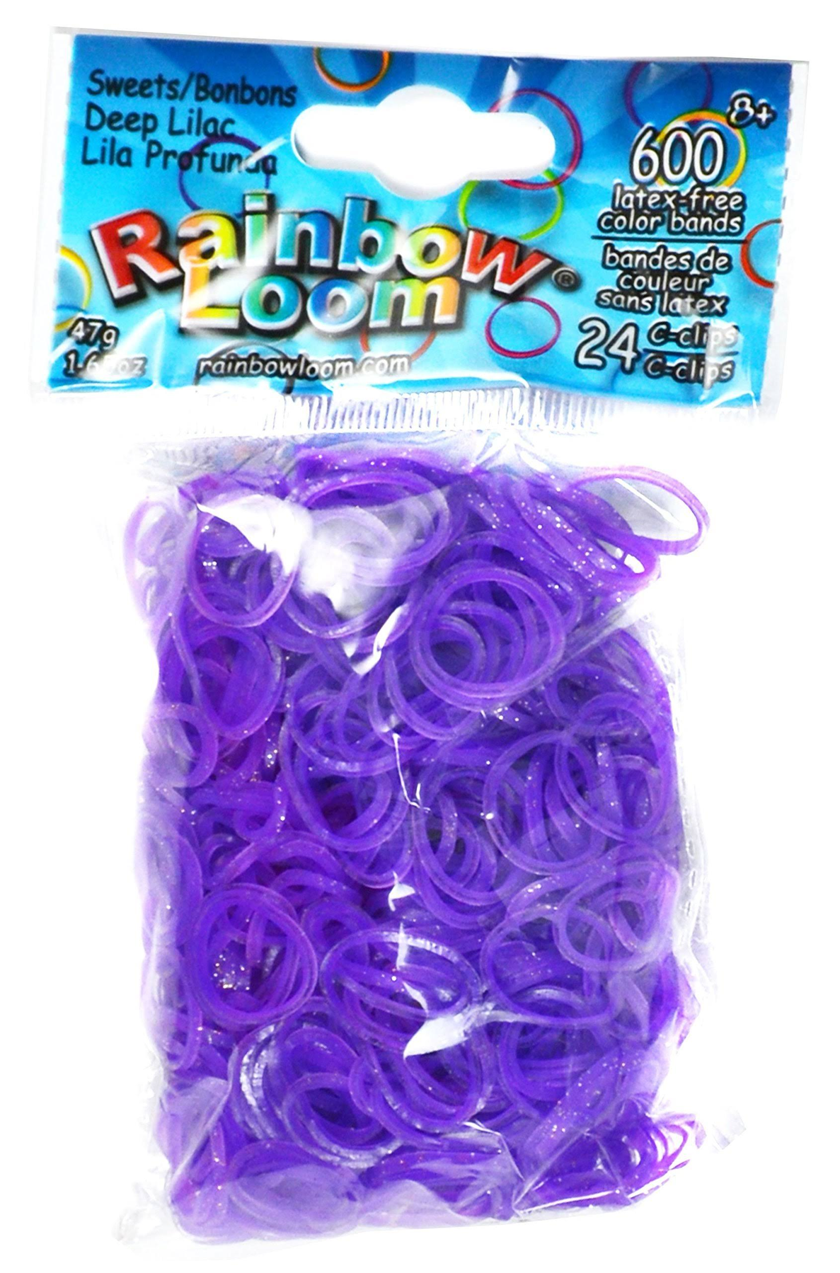 Rainbow Loom Sweets Rubber Bands Refill - Deep Lilac, 600ct