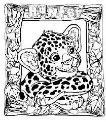 Lisa Frank Tiger Coloring Sheet