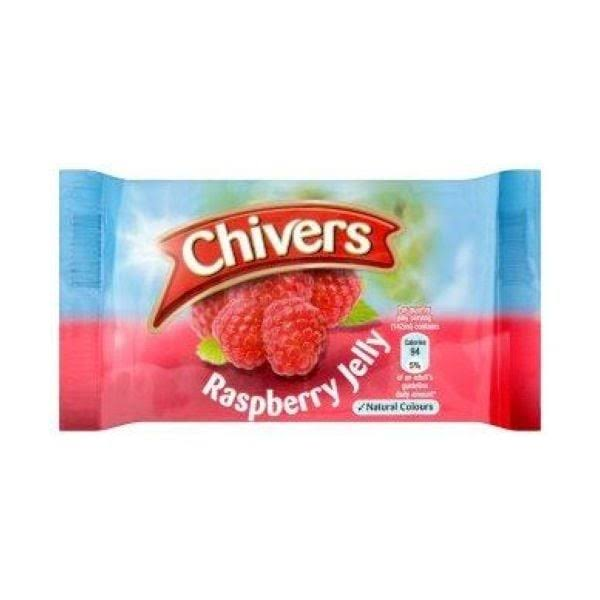 Chivers Jelly Raspberry Pkt Packet 12packs